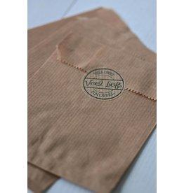 Papieren craft zakjes 12x18cm, 10 stuks