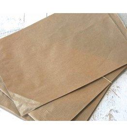 Papieren craft zakjes 15x21cm, 10 stuks