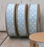 East of India Lint dots blauw, 3 meter