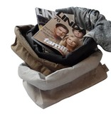 Uashmama Paper Magazine Bag olijf