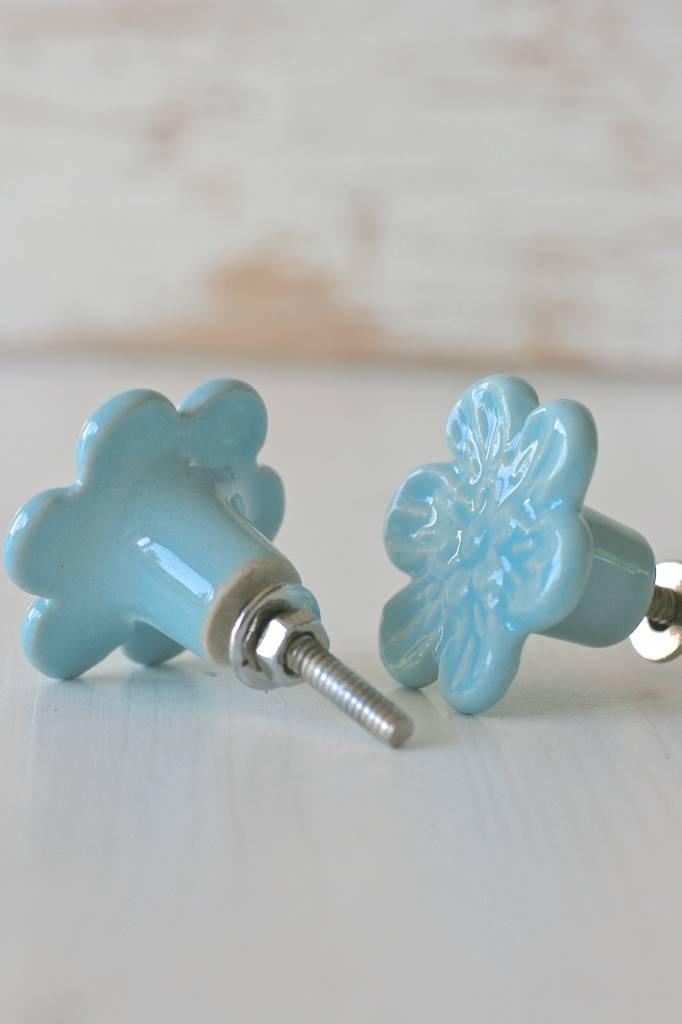 Harveys Knop bloem blauw 4,2cm