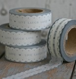 East of India Masking Tape Live Laugh love scallop edge