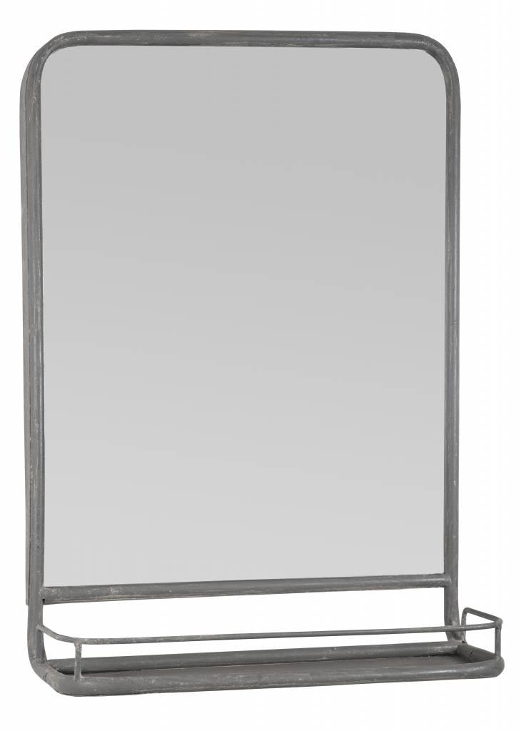 IB Laursen Spiegel met plank 70x49x14cm, zink