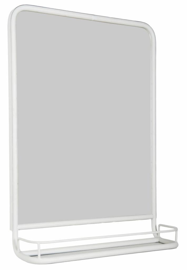 IB Laursen Spiegel met plank 70x49x14cm, wit