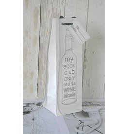 Wijntasje karton wit