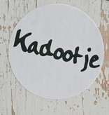 Ronde sticker 'kadootje' zwart/wit, 10st