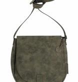 Zusss Ronde hippe schoudertas L 34x31x8cm, groen
