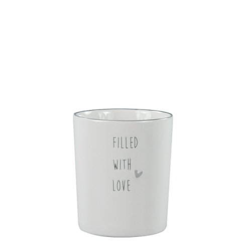 Bastion Collections Mug White/filled with love in Grey