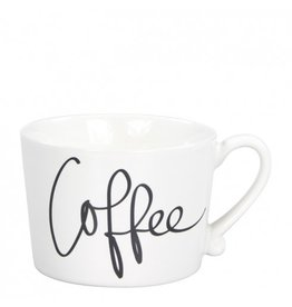 Mug White/Coffee in Black