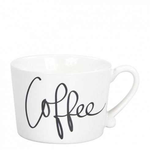 Bastion Collections Mug White/Coffee in Black