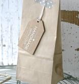 Papieren theezakje zonder venster 6x8x20cm, bruin