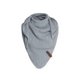 Knit Factory Junior omslagdoek / sjaal Coco lichtgrijs