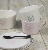 Bastion Collections Mug Rose with line heart in white