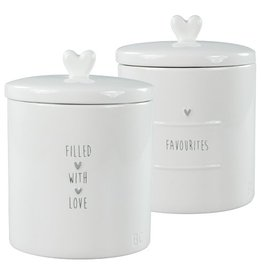 Bastion Collections Jar Large White flavourites in grey