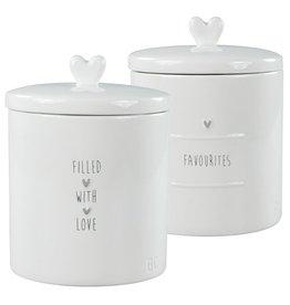 Jar Large White flavourites in grey