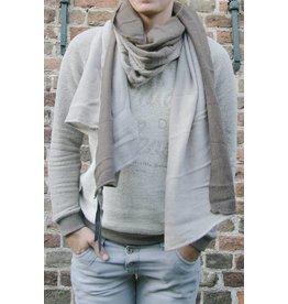 Zusss Sjaal kleurendip, taupe/zand
