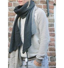 Zusss Sjaal kleurendip, zwart/grijs