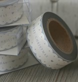 East of India Masking Tape Merry Christmas scallop edge, 10 meter