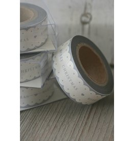 East of India Masking Tape Merry Christmas scallop edge