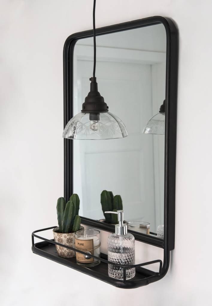 IB Laursen Spiegel met plank 70x49x14cm, zwart