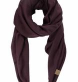 Zusss stoere grote sjaal aubergine
