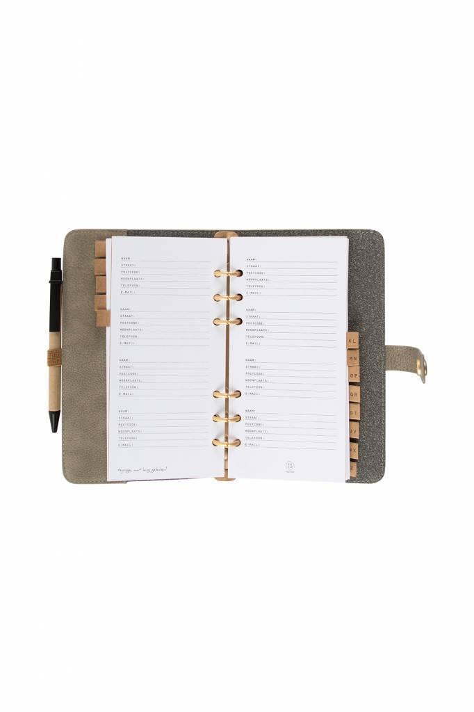 Zusss Adresboek kleigrijs