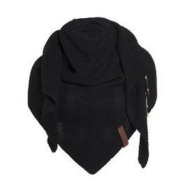 Knit Factory Omslagdoek / sjaal Coco zwart