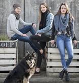Knit Factory Omslagdoek / sjaal 85x200cm, zwart