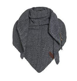 Knit Factory Omslagdoek / sjaal Coco antraciet-grijs