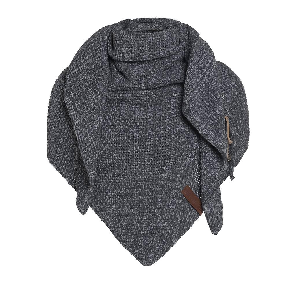 Knit Factory Omslagdoek / sjaal 85x200cm, antraciet-grijs