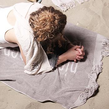 Zusss XX-Large strandlaken 90x200cm, niets doen….