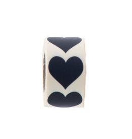 Sticker hartje zwart, 10st