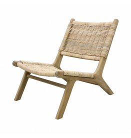 HK Living Fauteuil 'wicker lounge' naturel