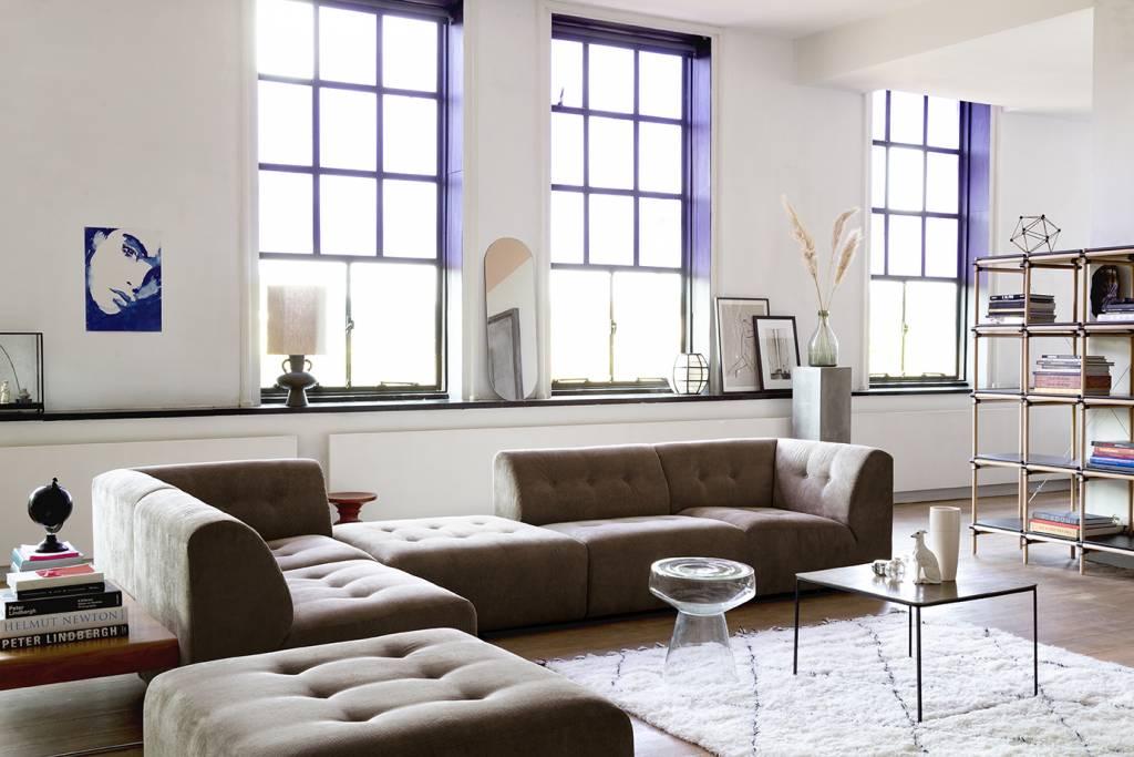 HK Living Vloerkleed berber 200x300cm zwart-wit