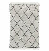HKliving Katoenen vloerkleed ruit patroon 120x180  zwart-wit