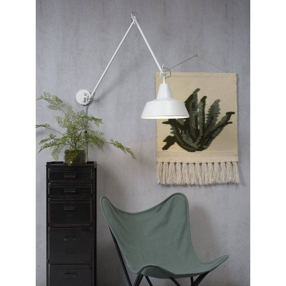 It's about RoMi Chicago wandlamp - wit