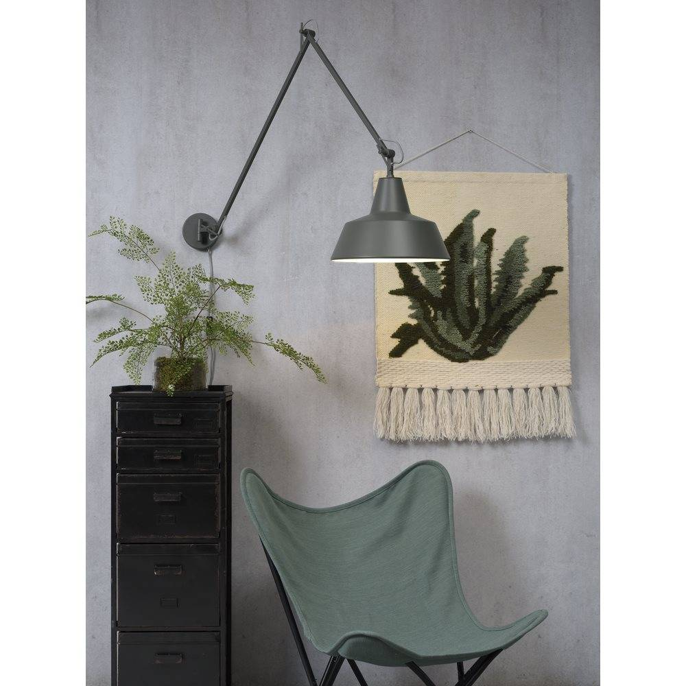 It's about RoMi Chicago wandlamp - groen/grijs