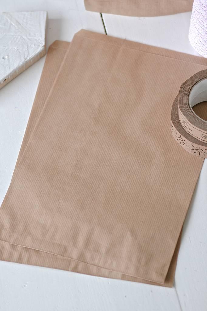 Papieren craft zakjes 26x31cm bruin, 10 stuks