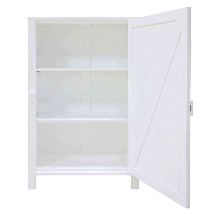 HK Living Mango houten kast met enkele deur 122x81x36cm, wit