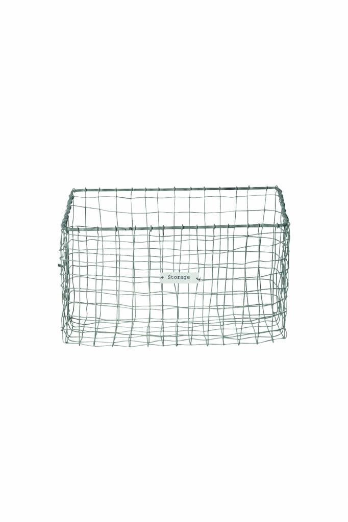 House Doctor Opbergmand 'Storage basket vintage', 18x18x30cm, zink