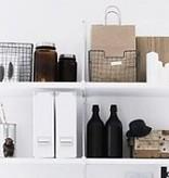 House Doctor Opbergmand 'Storage basket vintage' stapelbaar, 24x24x16cm, zink