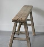 Oud chinees bankje 135cm, bruin