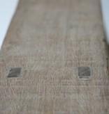 Oud bankje / krukje 101cm, bruin