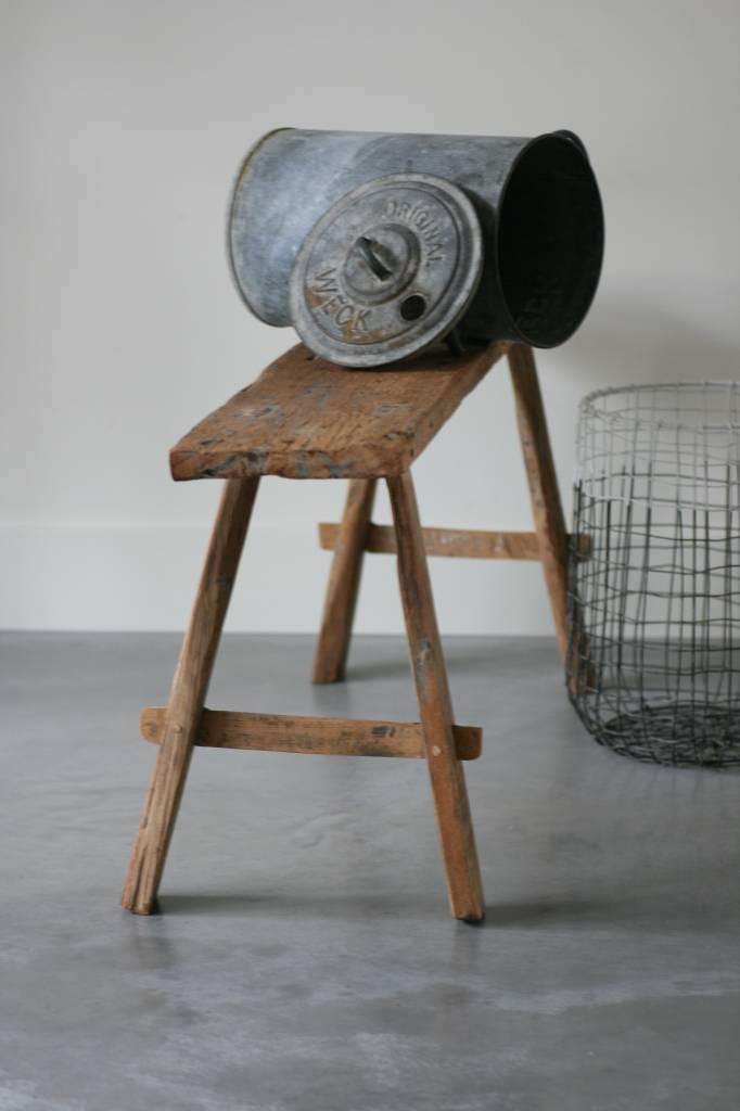 Oud bankje / krukje 104cm, bruin