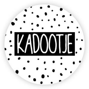 Ronde sticker 'kadootje' dots 10st