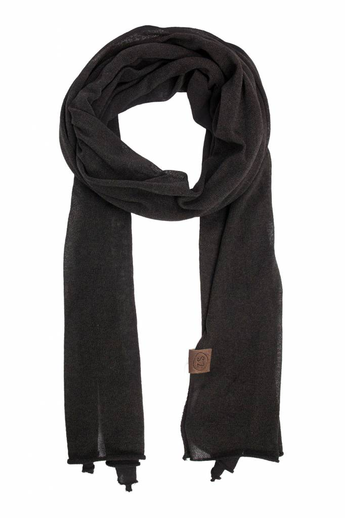 Zusss fijngebreide sjaal - off black