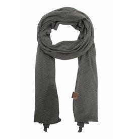 Zusss fijngebreide sjaal - grijs/groen