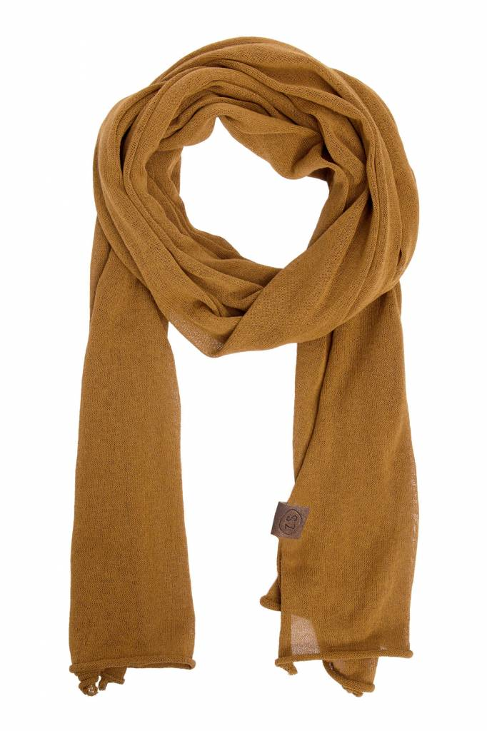 Zusss fijngebreide sjaal - mosterd