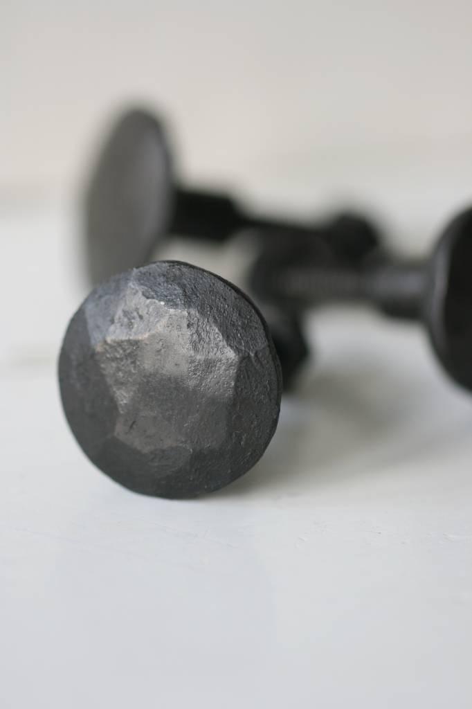 handgesmeede knop zwart 5cm