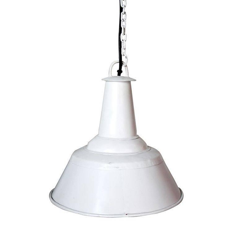 Label51 Vintage industriële lamp, 42x41cm wit
